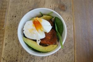 Bacon and Avocado Egg Pot