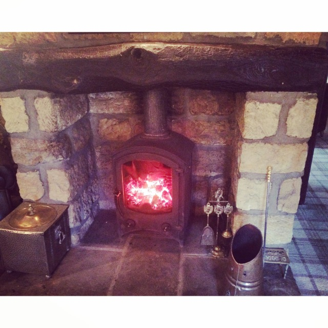 Fireplace - Ox Pasture Hall Hotel
