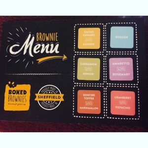 Boxed Brownies UK Menu