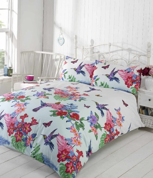 hummingbird_multi_coloured_quilt_set_1 - Yorkshire Linen