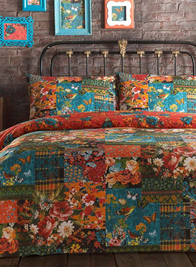Vintage Tapestry Patch Bedding Set - BHS